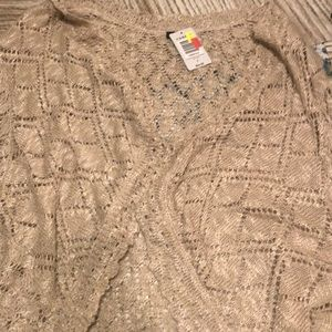 Torrid champagne color shrug
